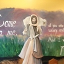 Artist, Tracy Langley painted this mural on the walls of one of the chapels in the community.